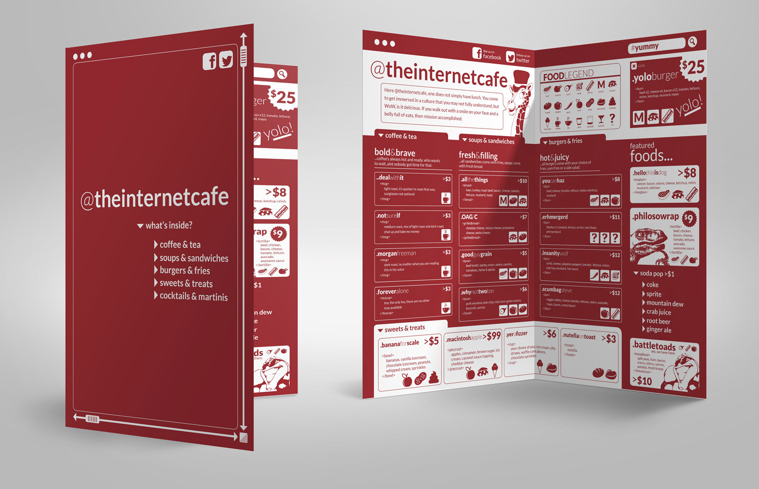 theinternetcafe – InDesign Template Free | Creativity Crate